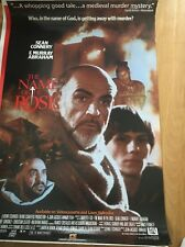 "Vintage In The Name Of The Rose Poster Sean Connery  Slater 1987 26""X 40"" OFFER!"