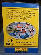 COBI/BEST-LOCK TOWN BUILDING SET 2009 POLICE AND FIRE BUILDING SET 450 PIECES