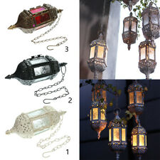 2 PCS Vintage Hanging Candle Holder Moroccan  Candle Lantern Wedding Home Decor