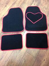 LOVE HEART GIRL RACER RED CAR MATS FOR NISSAN MICRA JUKE NOTE PIXO QASHQAI