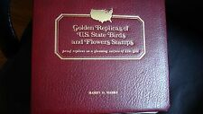 1982 1st Day Cover Album..Golden Replica of State Birds & Flowers...22 Kt.