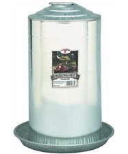 Metal Poultry Fount 8 Gallon Heavy Duty Galvanized Steel Waterer