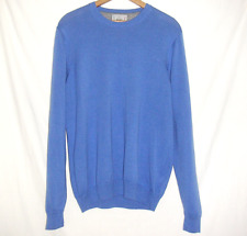 M&S Collection Long Sleeve 100% Cotton Medium Knit Jumper (M) - blue