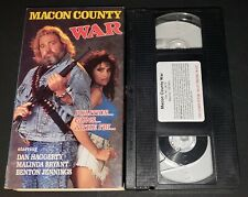 Macon County War VHS MNTEX RARE OOP Dan Haggerty Redneck Action Adventure