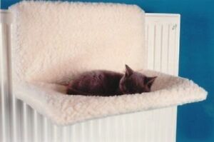 2 x CAT DOG RADIATOR BED WARM FLEECE BEDS BASKET CRADLE HAMMOCK ANIMAL PUPPY PET
