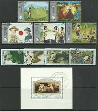 SHH Oman  State Lot # 16 Cenderela mint & used stamps