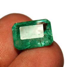 5.50 Ct Natural Columbian Beryl Emerald Shape Ring Size Gemstone Free Gift