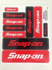 Snap-On Tools 10 Various Snap On Logos Toolbox Decal Stickers Emblem Name