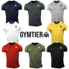 GYMTIER Bodybuilding Gym T-Shirt | Plain | Training Top Stringer Vest Motivation