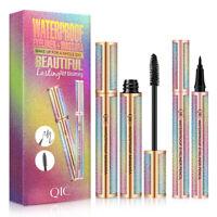 UK 4D Silk Fibre Long Lasting Waterproof Lash Starry Mascara Eyeliner Gift Sets