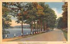 Pleasantville New York Waterfront Roadway Greeting Antique Postcard K84728
