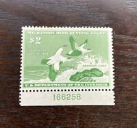 #RW24 1957  - US Federal Duck Stamp - Hinged OG Unsigned