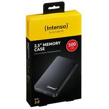 Intenso Memory Case 500 GB Externe Festplatte USB 3.0 HDD 2,5 Zoll Hard Disk