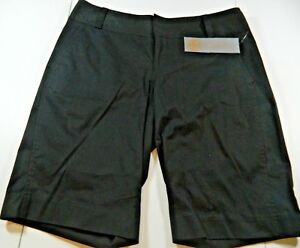 Daisy Fuentes Favorite Fit Black Cotton Bermuda Shorts Sz 4 NWTs, MSRP $40.00