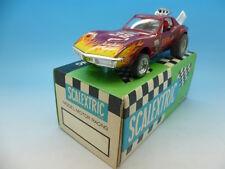 4050 Scalextric español casi nuevo Chevrolet Corvette Dragster en púrpura, En Caja