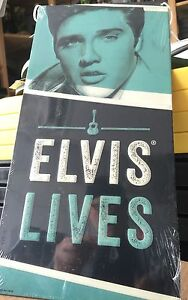 Elvis Live Blue Unique Tin Sign- New SIGN. FREE SHIPPING