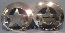 2 OLD STAR DECORATIONS ? NICKEL PLATED BRASS * AUTHENTIC & OLD & NOW ON SALE