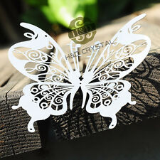 10PCS Silver Big Metal Butterfly Sticker Home Decor or Window Suncatcher Hanging