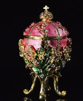 Faberge Eggs Russian Imperial Decorative Christian Jewelry Boxes ALL Colors NEW