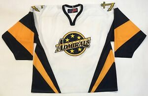 SP Sportswear Norfolk Admirals AHL Hockey Jersey White Adult XL Sewn Canada