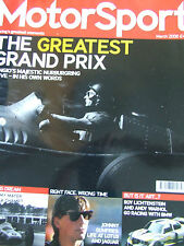 MOTOR SPORT MAGAZINE MAR 2006 FANGIO'S MAJESTIC NURBURGRING JOHNNY DUMFRIES ROY