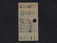 [COLLECTIONS] TICKET de METRO ANCIEN  - FR. ROOSEVELT 2e Classe Billet Railway