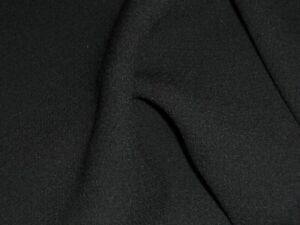 STRETCH WOOL CREPE-BLACK- DRESS FABRIC-FREE P+P