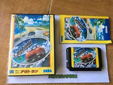 Outrun out run game Sega megadrive boxed complete with manual jap