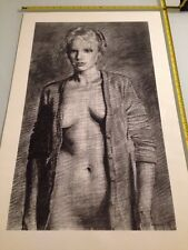 Female Nude Lithograph : T. Kaplan / 1987