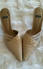 Stewart Weitzman Beige Shoes Size 9 very good condition. Slip on mule shoes