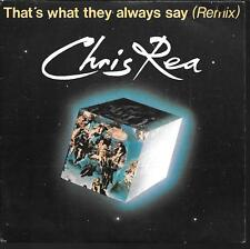 "45 TOURS / 7"" SINGLE--CHRIS REA--THE ROAD TO HELL / HE SHOULD KNOW BETTER--1989"