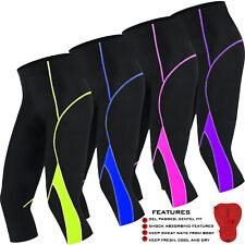 Women Cycling Tights 3/4  Legging Cycle Trousers Ladies Pants ANTI-BAC PAD
