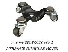 More details for 4 x 3 wheel dolly 60kg appliance furniture mover