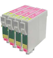 4 Light Magenta Cartridges P50 R265 R285 R360 RX560 RX585 T0806 Compatible Inks