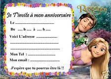 5 cartes invitation anniversaire Princesse Raiponce 04  d'autres en vente !!