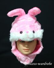 Easter Pink Rabbit Fun Costume Party Warm Hat Mask Cap