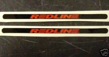 Redline Flight Bike Crank Stickers Pair Red on Black BMX Racing Old Mid School