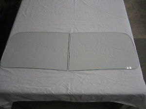 1951 1952 1953 1954 Kaiser HENRY J 2pc Windshield Clear NEW Vintage Auto Glass