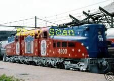 """Conrail GG1 # 4800 Bicentennial Paint  5"""" x 7"""" Photo"""