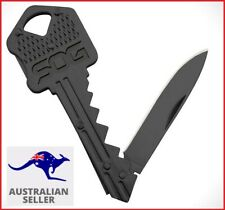 Key Knife Folding Stainless Keychain Keyring Pocket Multi Tool Black