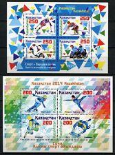 Kasachstan Kazakhstan 2014 Olympiade Olympics Paralympics Sotschi Bl.61-62 MNH