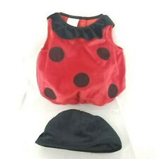 Infant 12-18 Halloween Lady Bug Plush Costume Red & Black Pull Over