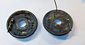 Triumph TR3A TR3B 10 Inch Backing Plates--Matched Set-Rustfree Nice Clean-MV