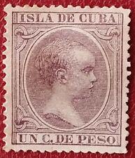 Sello de Alfonso XIII. 1891. (Pelón) 1 c de peso.