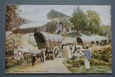 R&L Postcard:  Transporting Tea from Estates Ceylon Sri Lanka