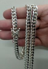 "24"" Sterling Silver Miami Cuban Link Chain, 6 mm 85 grams"