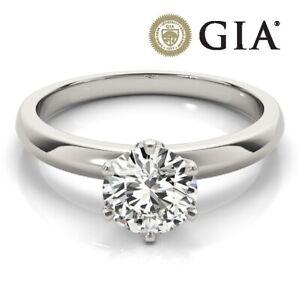 GIA CERTIFIED DIAMOND ENGAGEMENT RING VVS2 1.64 CARAT ROUND G PLATINUM + Video +