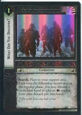 Lord Of The Rings CCG Foil Card TTT 4.R213 What Did You Discover