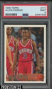 1996-97 Topps #171 Allen Iverson Philadelphia 76ers RC Rookie PSA 9 MINT