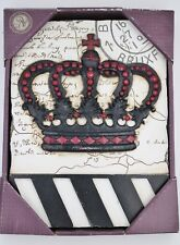 Chess King Crown Art Object Tile Home Decor Wall Hanging Plaque